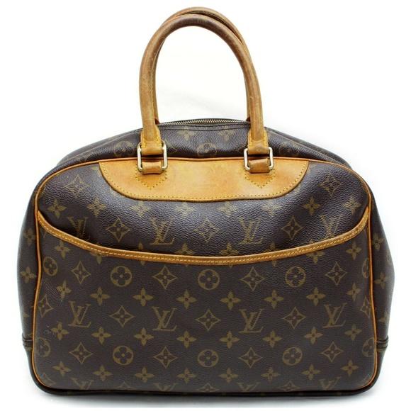 Louis Vuitton Handbags - Auth Louis Vuitton Deauville Satchel #2719L18